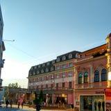 Ciudad de Ruzomberok Imagen de archivo libre de regalías