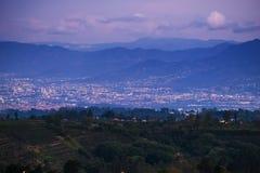 Ciudad de San Jose en el crepúsculo foto de archivo