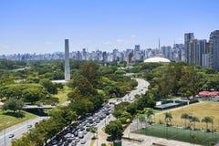 Ciudad de Sao Paulo, el Brasil Parque de Ibirapuera imágenes de archivo libres de regalías