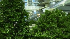 Ciudad de Sci fi libre illustration