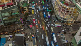 Ciudad de Seul céntrica almacen de metraje de vídeo