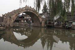 Ciudad de Shangai Fengjing en el otoño Foto de archivo libre de regalías