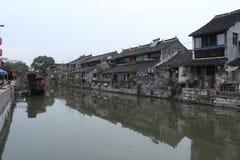 Ciudad de Shangai Fengjing en el otoño Imágenes de archivo libres de regalías