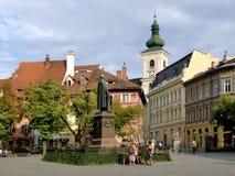 Ciudad de Sibia en Rumania fotos de archivo libres de regalías