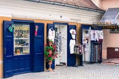 Ciudad de Sibiu, destino europeo del viaje imagenes de archivo