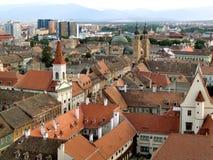 Ciudad de Sibiu en Transilvania fotografía de archivo