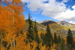 Ciudad de Silverton en Colorado Rocky Mountains en otoño Fotos de archivo