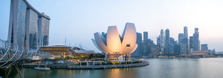 Ciudad de Singapur - panorama imagen de archivo