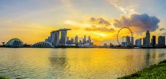 CIUDAD DE SINGAPUR, SINGAPUR: Sept 29,2017: Horizonte de Singapur Singa foto de archivo libre de regalías