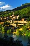 Ciudad de Sisteron en Provence, Francia Fotografía de archivo libre de regalías