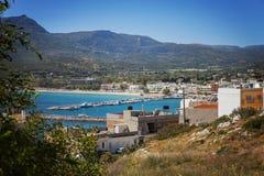 Ciudad de Sitia Creta imagen de archivo
