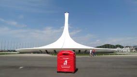 Ciudad de Sochi Aldea olímpica antorcha Fotos de archivo libres de regalías