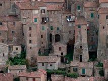 Ciudad de Sorano Imagenes de archivo