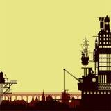 Ciudad de Steampunk ilustración del vector
