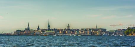 Ciudad de Suecia Estocolmo Fotos de archivo