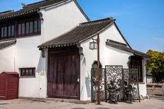 Ciudad de Suzhou, casas de ciudad antigua del Lu Zhi Foto de archivo