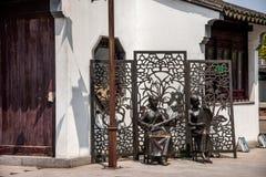 Ciudad de Suzhou, casas de ciudad antigua del Lu Zhi Imagenes de archivo