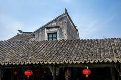 Ciudad de Suzhou, casas de ciudad antigua del Lu Zhi Imagen de archivo