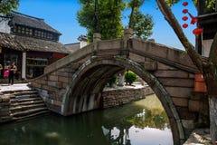 Ciudad de Suzhou, casas de ciudad antigua del Lu Zhi Fotos de archivo libres de regalías