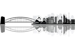 Ciudad de Sydney por mañana del verano Foto de archivo