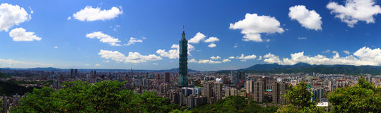 Ciudad de Taipei Fotografía de archivo libre de regalías