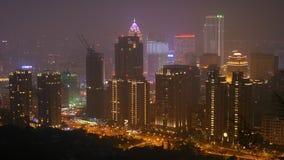 Ciudad de Taipei en la noche en Taiwán (2) Fotografía de archivo