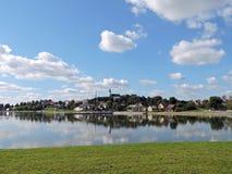 Ciudad de Telsiai, Lituania Fotografía de archivo
