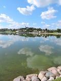 Ciudad de Telsiai, Lituania Imagen de archivo libre de regalías