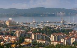 Ciudad de Tivat montenegro Foto de archivo