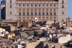 Ciudad de Toledo, panorámica de edificios históricos La Mancha de Castilla españa Imagenes de archivo