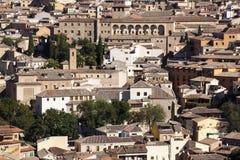 Ciudad de Toledo, panorámica de edificios históricos La Mancha de Castilla españa Foto de archivo