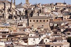 Ciudad de Toledo, panorámica de edificios históricos La Mancha de Castilla españa Fotos de archivo libres de regalías