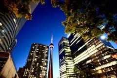 Ciudad de Toronto de la foto de la noche Foto de archivo