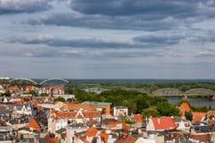 Ciudad de Torun From Above Fotografía de archivo libre de regalías