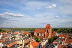 Ciudad de Torun en Polonia Imagenes de archivo