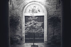 Ciudad de Toscana en blanco y negro Imagen de archivo