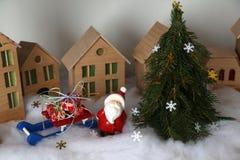 Ciudad de Toy Christmas Fotos de archivo libres de regalías