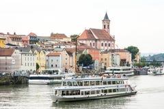 Ciudad de tres ríos - Passau Foto de archivo