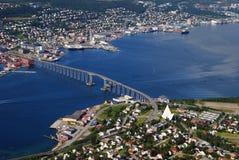 Ciudad de Tromso Imagen de archivo libre de regalías