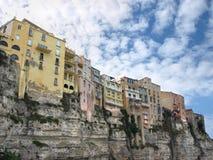 Ciudad de Tropea Foto de archivo libre de regalías