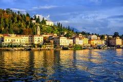 Ciudad de vacaciones de Bellagio en el lago Como, Lombardía, Italia fotografía de archivo libre de regalías