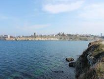 Ciudad de vacaciones, mar y costa de la Crimea Imagenes de archivo