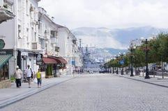 Ciudad de vacaciones rusa de Novorossiysk Imágenes de archivo libres de regalías