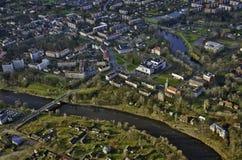 Ciudad de Valmiera Imágenes de archivo libres de regalías