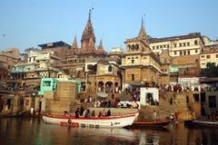 Ciudad de Varanasi Fotos de archivo libres de regalías