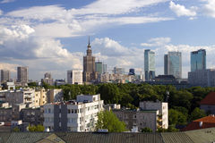 Ciudad de Varsovia Foto de archivo