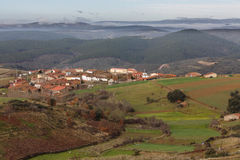 Ciudad de Vega de Nuez en Zamora, España Foto de archivo libre de regalías