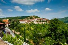 Ciudad de Veliko Tirnovo (Tarnovo) en Bulgaria Imagen de archivo libre de regalías
