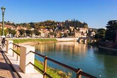 Ciudad de Verona Italia Fotos de archivo