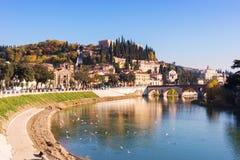 Ciudad de Verona Italia Imagenes de archivo